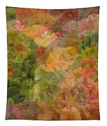 Petunias And Lantana Collage Tapestry