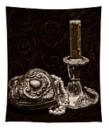 Pewter And Pearls - Sepia Tapestry