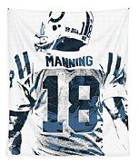 Peyton Manning Indianapolis Colts Pixel Art Tapestry