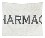 Pharmacy Sign- Art By Linda Woods Tapestry