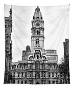 Philadelphia City Hall Building On Broad Street Tapestry