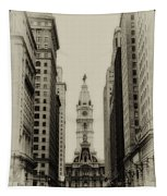 Philadelphia City Hall From South Broad Street Tapestry