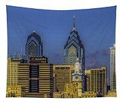 Philadelphia City Hall Skyline Tapestry