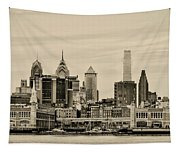 Philadelphia From The Waterfront In Sepia Tapestry