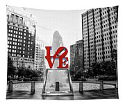 Philadelphia - Love Statue - Slective Coloring Tapestry