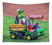 Phillie Phanatic Hot Dog Shooter Tapestry