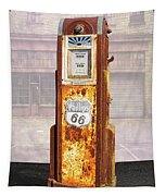 Phillips 66 Antique Gas Pump Tapestry