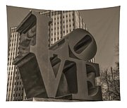 Philly Esque  - Love Statue In Sepia Tapestry