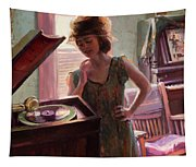 Phonograph Days Tapestry