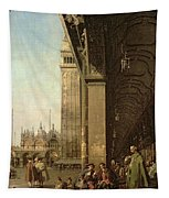 Piazza Di San Marco And The Colonnade Of The Procuratie Nuove Tapestry