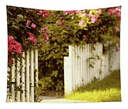 Picket Fence Roses Tapestry