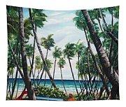 Picking Coconuts .. Mayaro Tapestry
