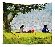 Picnic And Fishing Tapestry