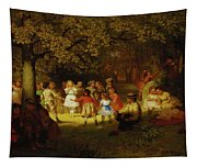 Picnic Party In The Woods Tapestry
