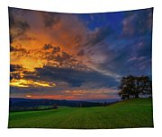 Picturesque Rural Sunset Tapestry