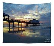 Pier 60 Sunset Tapestry