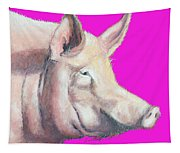 Pig Painting - Kitchen Art Tapestry