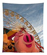 Pigs And Puppies And Ferris Wheel - Oh My Tapestry