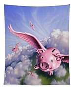 Pigs Away Tapestry