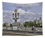 Pillar On The Blue Bridge Tapestry