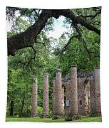 Pillars Of Sheldon Church Ruins Tapestry