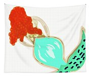 Pin Up Redhead Mermaid Tapestry