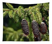 Pine Cones On The Bough Tapestry