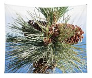 Pine Cones Over Lake Tahoe Tapestry