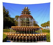 Pineapple Fountain Charleston Sc Tapestry