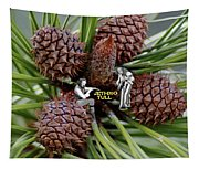 Pinecone Rock 1 Tapestry