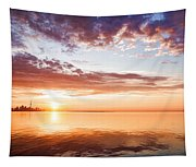 Pink And Gold Morning Zen - Toronto Skyline Impressions Tapestry