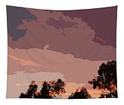 Pink And Mauve Sky Abstract Tapestry