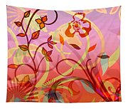 Pink And Purple Flower Medley Tapestry