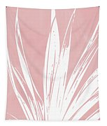 Pink And White Tropical Leaf- Art By Linda Woods Tapestry by Linda Woods