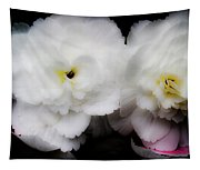 Pink And Yellow On White 3 Tapestry