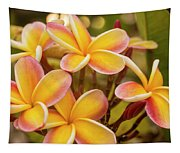 Pink And Yellow Plumeria 2 Tapestry