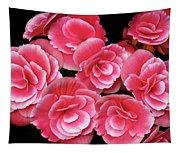 Pink Begonias Tapestry