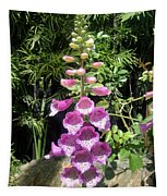 Pink Bell Flowers. Foxglove 03 Tapestry