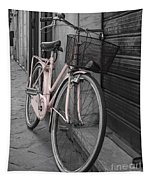 Pink Bicycle In Rome Tapestry