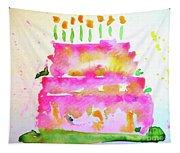 Pink Birthday Cake Tapestry