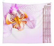 Pink Blotchy Orchid Calendar 2016 Tapestry