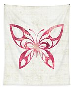 Pink Butterfly Tapestry