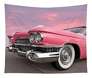 Pink Cadillac Sunset Tapestry