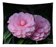 Pink Camellias Tapestry