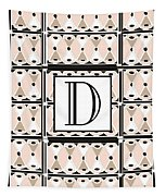 Pink Champagne Deco Monogram  D Tapestry