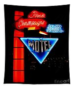 Pink Champagne Motel Tapestry