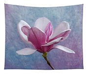 Pink Chinese Magnolia Flower Tapestry