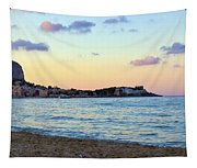 Pink Clouds Over Sicily Tapestry