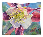 Pink Columbine Tapestry