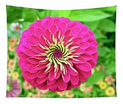 Pink Dahlia Tapestry